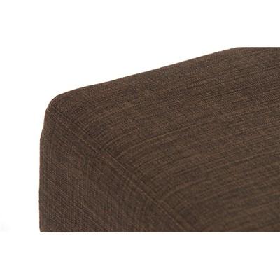 Taburete de Bar MARK 76 TELA, en acero inoxidable, altura asiento 76cm, tapizado en tejido marrón
