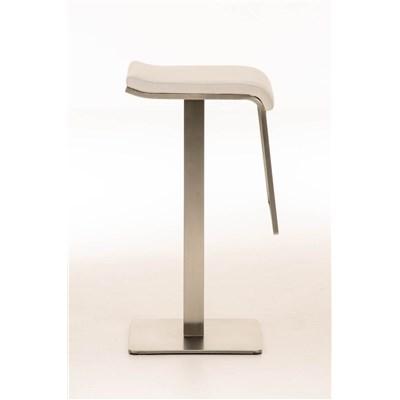 Taburete de Bar LAMA 78 Tela, estructura en acero, diseño ergonómico, en tejido color blanco