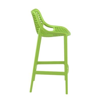 Taburete de Diseño DANIELA, perfecto para exteriores, fabricado en polipropileno color verde