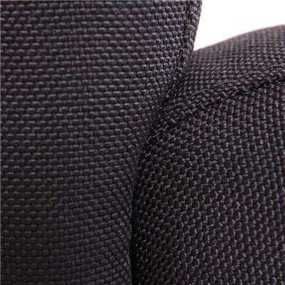 Lote 6 Sillas de Comedor LITAU TELA, precioso diseño, tela Negra y patas Claras