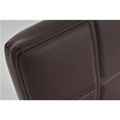 Lote 4 Sillas de Comedor o Cocina BIELSA, exclusivo diseño en costuras, en piel color marrón