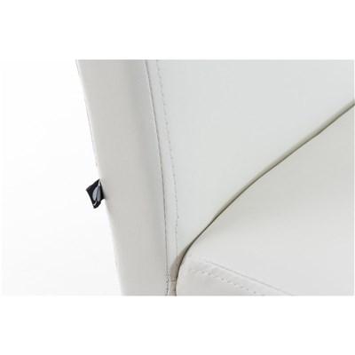 Lote 4 Sillas de Comedor CAPRI, Piel Blanca y Patas Oscuras, Muy Cómodas y Resistentes