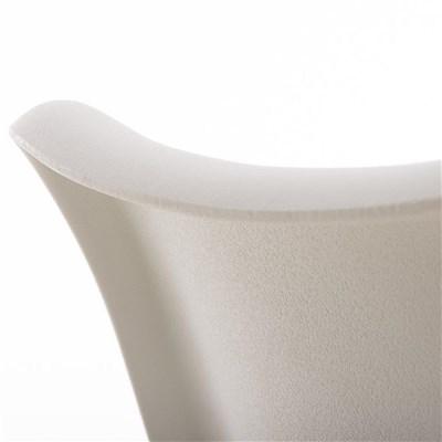 Lote de 4 Sillas de Comedor BAHIA PIEL, en Blanco y Patas Blancas