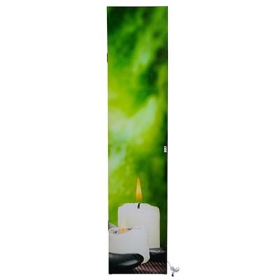 Biombo LED estilo FLORES, Estructura de Madera, 180x160x2,5cm