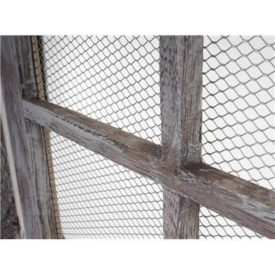 Biombo 4 paneles CARINA, Estructura de Madera, 177x182x20cm