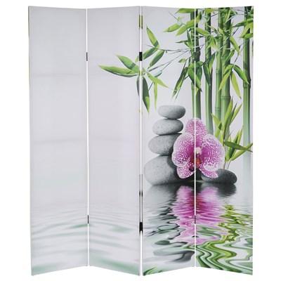 Biombo 4 paneles SAMU, Estructura de Madera, 180x160x2,5cm