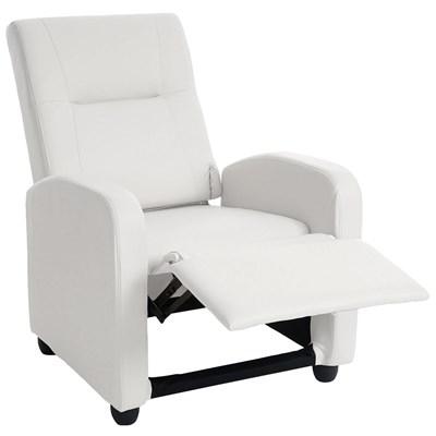 Sillón Relax Reclinable DENVER BASIC, Piel Blanca, Precio Increíble