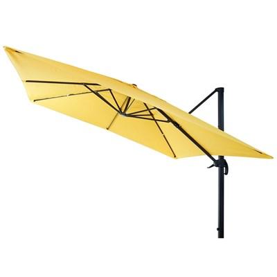 Sombrilla / Parasol HELIOS CON SOPORTE, de 3 x 3 metros, Ajustable, Cruz de suelo Incluida, en Amarillo