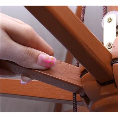 Sombrilla ONTARIO 3,5 m Diámetro, Estructura Madera, Cubierta Color Crema