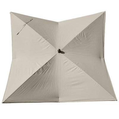 Sombrilla/ Parasol ORIGAMI, 3 x 3 metros, Aluminio Inoxidable, Gran Calidad, Crema