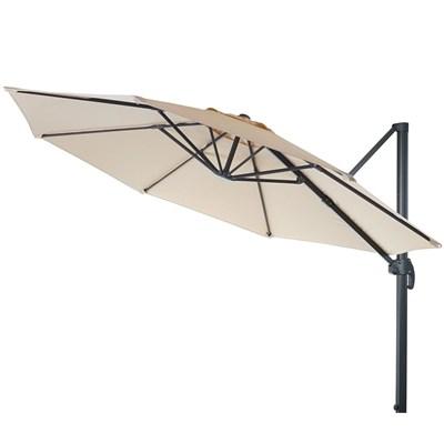 Sombrilla / Parasol MADEIRA GIRATORIA, 4 metros Diámetro, Ajustable, con Cruz de Suelo, en Crema
