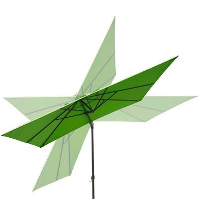 Sombrilla / Parasol TAHITI, de 3 x 3 metros, 100% Ajustable, Cruz de suelo Incluida, en Verde