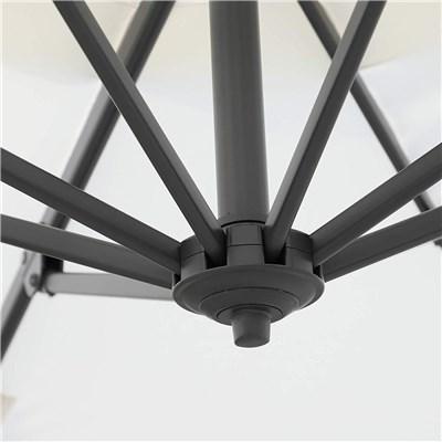 Parasol Excéntrico LARS, 2,94 m diámetro, Inclinable y Giratoria, color Crema
