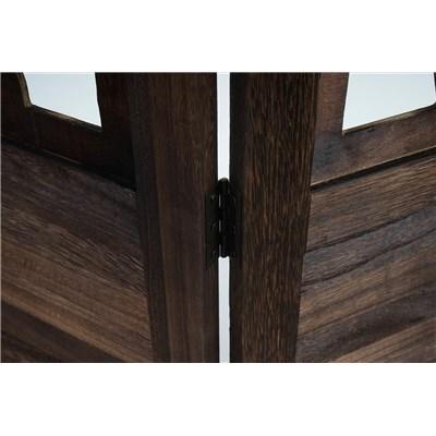 DEMO# Biombo 6 paneles CLOVIS,  Estructura de Madera Color Marrón, 170x240x2cm