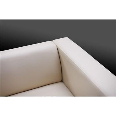 Sofa de 2 plazas modelo LILLE, muy cómodo, en piel, color crema