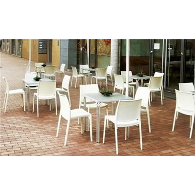 Silla para Jardín o terraza C44, modelo apilable, máxima calidad, muy resistente y ligera, gris claro