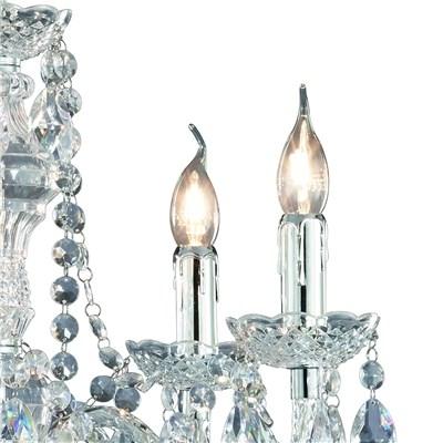 Lámpara de Techo tipo ARAÑA, con 5 bombillas, fabricada en vidrio acrílico transparente