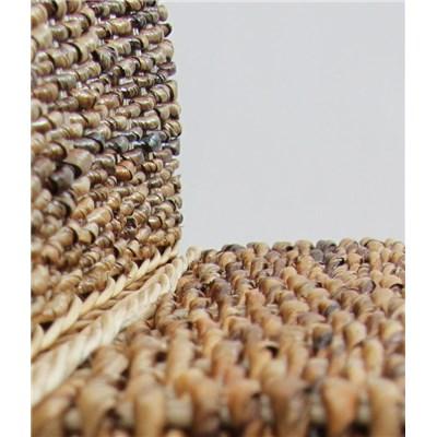 Lote 6 Sillas de comedor SABANA, en madera y mimbre color marrrón claro