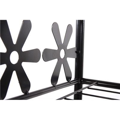 Estantería de metal zapatero GINEBRA 2 estantes, 50 cm de altura