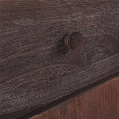 Cómoda mesita de noche de 63x35x29cm, estilo vintage color marrón