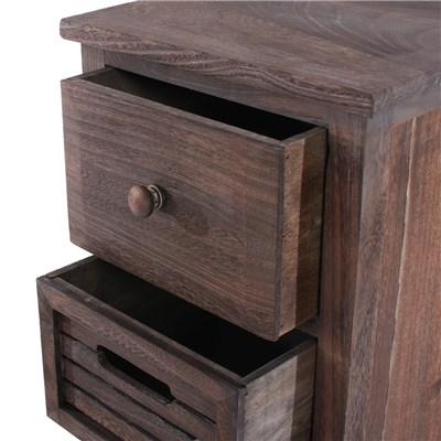 Armario cómoda 74x30x25cm, estilo antiguo color Marrón