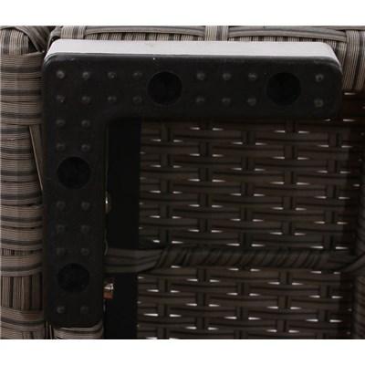 Conjunto Poly Rattan 6 Plazas +1, Sistema Modular, Estructura gris Natural, Cojines en Crema