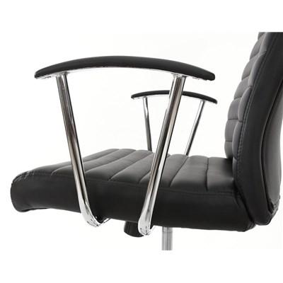 Sillon de Diseño ARUCAS, Gran acolchado, estructura metálica, en piel color negro