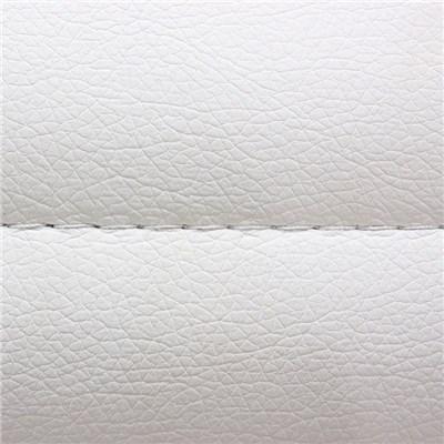 Sillon de Diseño ARUCAS, Gran acolchado, estructura metálica, en piel color blanco