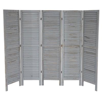 Biombo plegable dimensiones 170x228cm, 5cm de grosor, estilo clasico en gris
