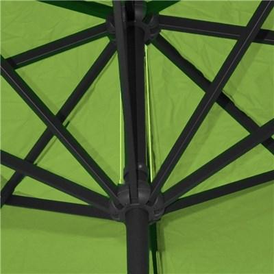Sombrilla MISTY color Verde, 5 m Diámetro, Base Fija, Altura Ajustable, Muy Resistente