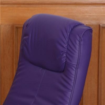 Sillón Relax N44, Máxima Comodidad, reclinable, en 2 piezas, tapizado en piel color Lila