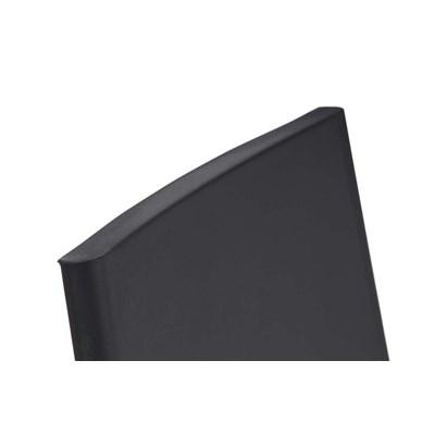 Taburete de Diseño NADIA, Color Negro y Estructura de Metal Cromado, Apilable