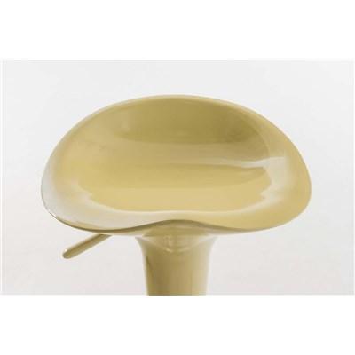 Taburete de Diseño para Cocina CANDY, En Color Crema, Regulable en Altura y Giratorio