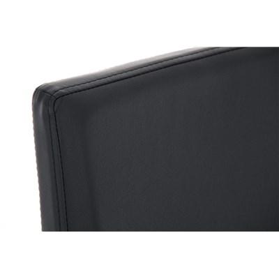 Taburete de Bar LINCON, estructura de acero inoxidable, muy resistente, en piel negro