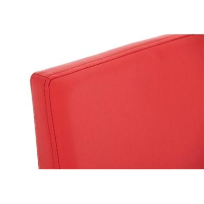 Taburete de Bar LINCON, estructura de acero inoxidable, muy resistente, en piel rojo