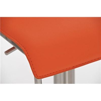 Taburete para Bar o Cocina EVA, estructura en acero, exclusivo diseño, altura ajustable, en piel naranja