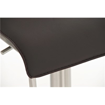 Taburete para Bar o Cocina EVA, estructura en acero, exclusivo diseño, altura ajustable, en piel marrón