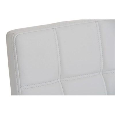 Taburete para Bar JULIETA, Estructura en Acero Inoxidable, gran Calidad, tapizado en piel blanco
