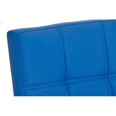 Taburete para Bar JULIETA, Estructura en Acero Inoxidable, gran Calidad, tapizado en piel azul