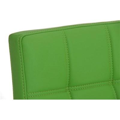 Taburete para Bar JULIETA, Estructura en Acero Inoxidable, gran Calidad, tapizado en piel verde