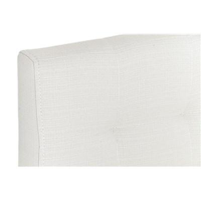 Taburete de Bar INES PRO Tela, estructura en acero, gran acolchado, tapizado en tela blanco