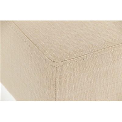Taburete de Bar MARK 76 TELA, en acero inoxidable, altura asiento 76cm, tapizado en tejido crema
