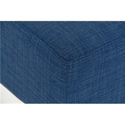 Taburete de Bar MARK 76 TELA, en acero inoxidable, altura asiento 76cm, tapizado en tejido Azul