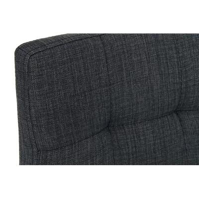 Taburete de Cocina o Bar MARTINA Tela, estructura metálica en negro, acolchado tapizado en tejido gris oscuro