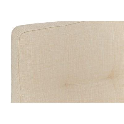 Taburete de Cocina o Bar MARTINA Tela, estructura metálica en blanco, acolchado tapizado en tejido crema