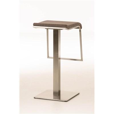Taburete de Bar LAMA 78 Tela, estructura en acero, diseño ergonómico, en tejido color gris