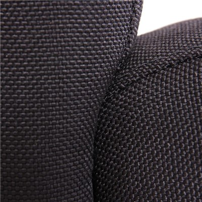 Lote 6 Sillas de Comedor LITAU TELA, precioso diseño, tela Negra y patas negras