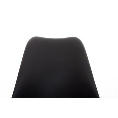 Lote 4 Sillas TAYLOR, Color Negro, Patas de Madera Oscuras, Asiento en Piel, Diseño Exclusivo