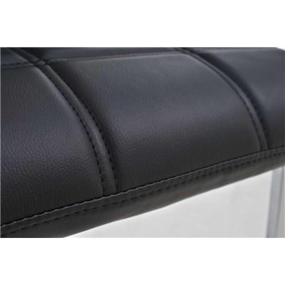 Lote 4 Sillas de Comedor o Cocina BIELSA, exclusivo diseño en costuras, en piel color negro