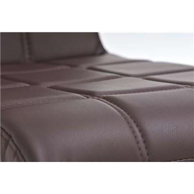 Lote 2 Sillas de Comedor o Cocina BIELSA, exclusivo diseño en costuras, en piel color marrón